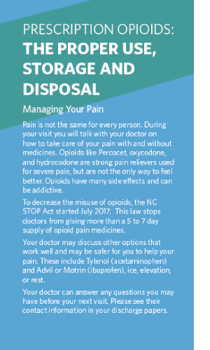Using Opioids After Surgery Brochure Image