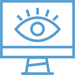 eye on monitor icon