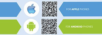 My UNC Chart Mobile Apple & Android QR Codes