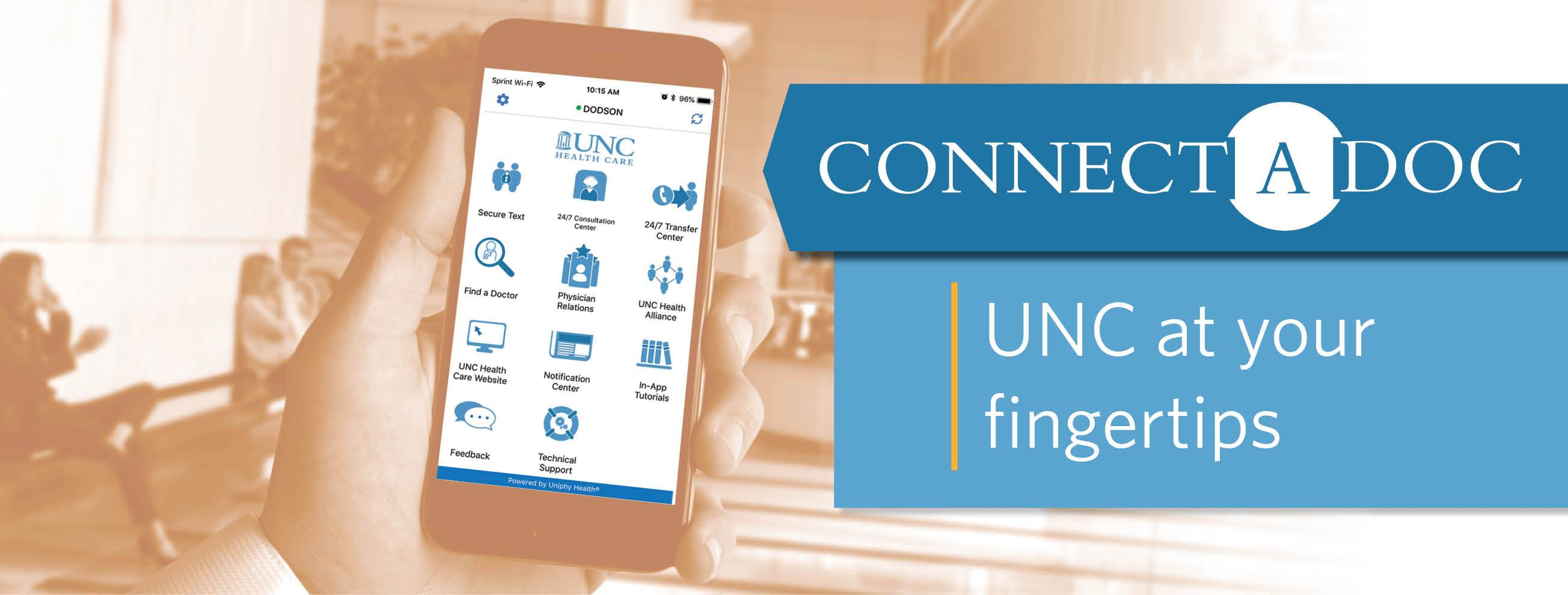 UNC at your fingertips